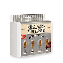 Debenhams - Set of four champagne shot glasses