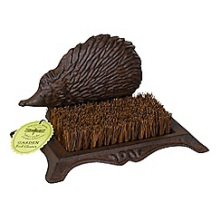 Wilson and Bloom - Cast iron boot cleaner hedgehog