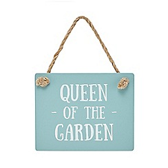 Wilson and Bloom - Green 'Queen of the garden' sign