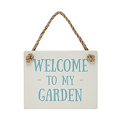 Wilson and Bloom - Cream 'Welcome to my garden' sign