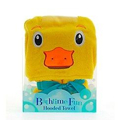 Snuggle Me - Duck hooded towel