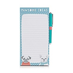 Spot & Mog - 'Pawsome Ideas' magnetic jotter with pen