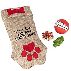Spot & Mog - Novelty dog stocking with toys