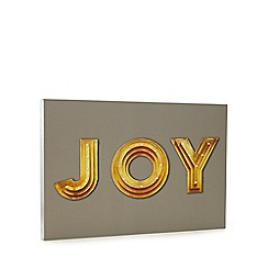 Debenhams - Grey 'Joy' LED wall art