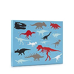 Debenhams - Blue dinosaur LED wall art