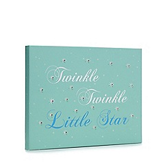 Debenhams - Turquoise 'twinkle twinkle little star' LED wall art