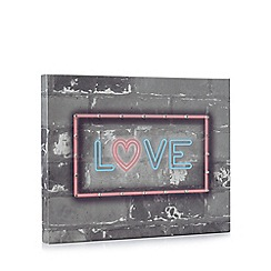 Debenhams - Grey 'Love' LED wall art