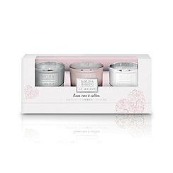 Baylis & Harding - Linen Rose & Cotton Set of 3 Candles
