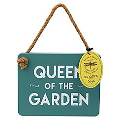 Wilson and Bloom - Queen of the garden wooden sign