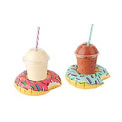 Mr & Mrs Jones - Inflatable Donut Drink Holder Twin Set Pool Floats