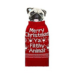 Spot & Mog - Red 'Merry Christmas' dog jumper