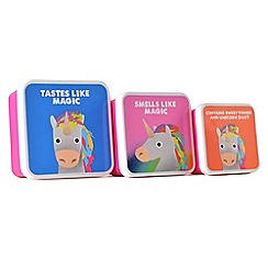 Jolly Awesome - Set of 3 unicorn lunch boxes