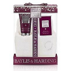 Baylis & Harding - Midnight Fig and Pomegranate Luxury Slipper Set