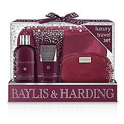 Baylis & Harding - Midnight Fig and Pomegranate Luxury Travel Set