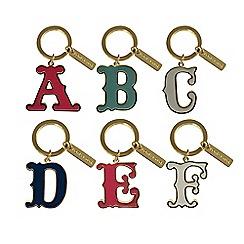 Bombay Duck - Monogram Enamel Letter Keyring 7cm