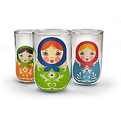 Fred - Babushkups set of 3 glasess