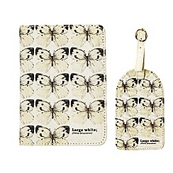 Gift Republic - Butterfly Passport & Luggage Tag