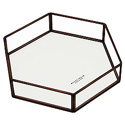 By Savvy - Antique copper hexagonal open tray