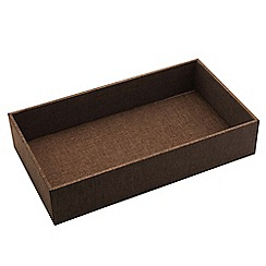 By Savvy - Large fabric tray in dark brown
