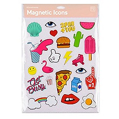 DOIY - Pink icon magnets