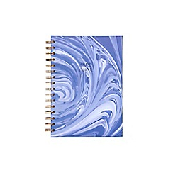 Debenhams - Grey marble spiral notebook