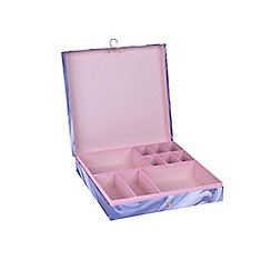 Debenhams - Grey Marble Jewellery/Stationery Box