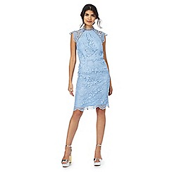 Chi Chi London - Blue 'Loles' floral lace dress