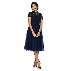 Chi Chi London - Navy 'Shirann' lace dress