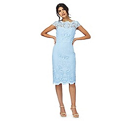 Chi Chi London - Blue 'Manon' cap sleeve dress