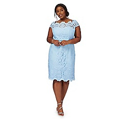 Chi Chi London - Blue 'Manon' cap sleeve plus size dress