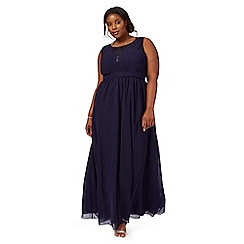 Chi Chi London - Navy 'Chantelle' sleeveless plus size dress