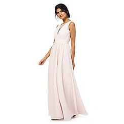 Chi Chi London - Pink diamante embellished plus size maxi dress