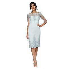Chi Chi London - Light blue floral lace dress