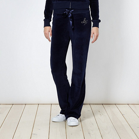 Lipsy - Navy velour jogging bottoms