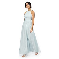 Chi Chi London - Light blue lace maxi dress