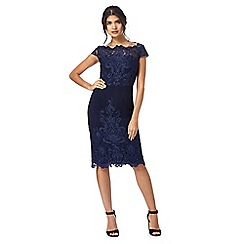 Chi Chi London - Navy 'Jourdana' embroidered tunic dress