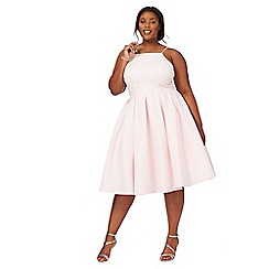 Chi Chi London - Pink 'Iryana' sleeveless plus size dress