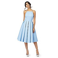 Chi Chi London - Blue  Benedetta  sleeveless dress