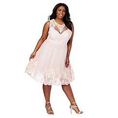 Chi Chi London - Light pink 'Sabrina' plus size dress