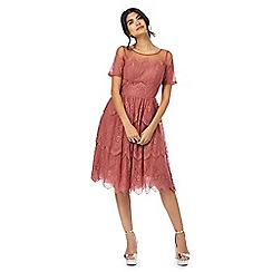 Chi Chi London - Pink lace trim dress