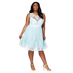 Chi Chi London - Light blue 'Seema' plus size dress