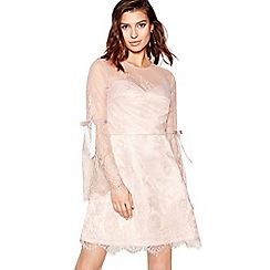 Chi Chi London - Light pink lace 'Letitia' long sleeves mini dress
