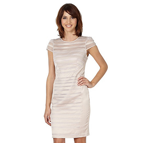 Lipsy - VIP pale pink satin striped dress