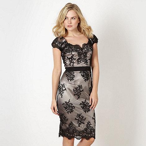Lipsy - VIP black lace cap sleeve dress