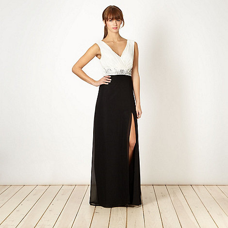 Lipsy - Black embellished waist maxi dress