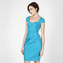 Lipsy - Blue stretch sweetheart neckline