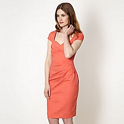 Lipsy - Peach sweetheart neck dress