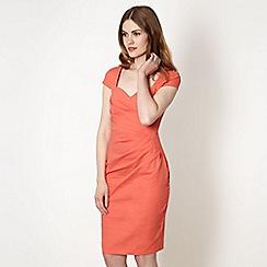 Lipsy - Peach sweetheart neck dress