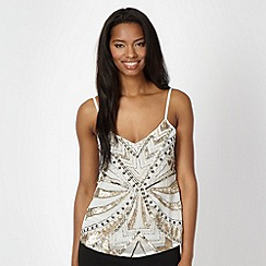 Lipsy - Light gold embellished cami