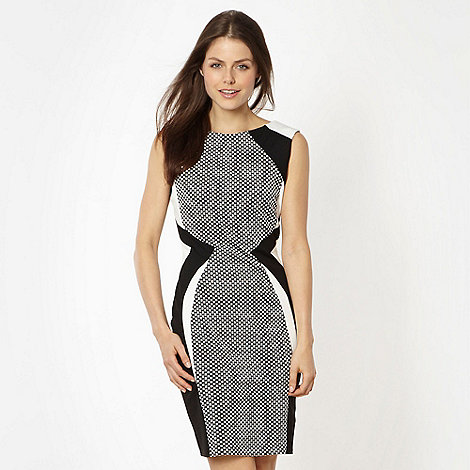 Lipsy - Black monochrome panelled bodycon dress